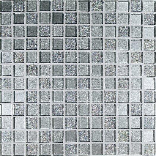 Casa Italia Crystal-A Glass Glossy Mosaic in Trasparenze Argento