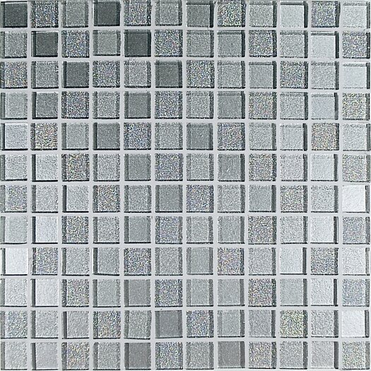 Casa Italia Crystal-A Glass Mosaic in Trasparenze Argento