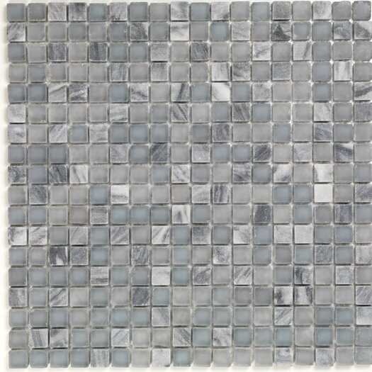 Casa Italia Pure & Natural Natural Stone and Glass Mosaic in Pure Blue Stone and Natural Frosted