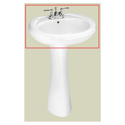 St Thomas Creations Stafford Center Medium Pedestal Bathroom Sink