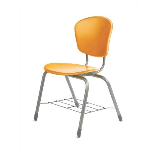 """Virco Zuma 18.25"""" Plastic Classroom Chair with Wire Bookrack"""