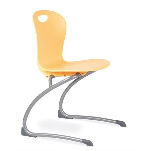 "Virco Zuma 15.5"" Plastic Classroom Cantilever Chair"