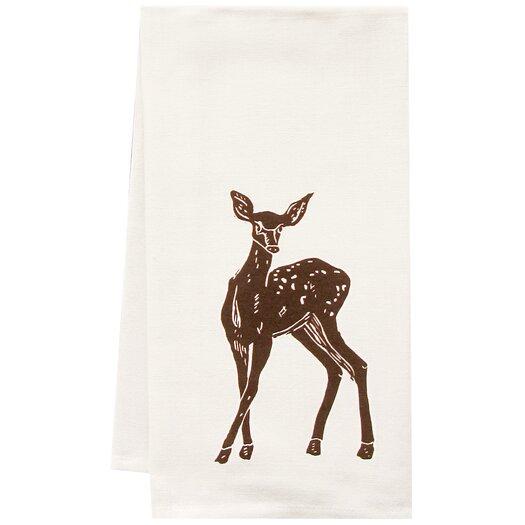 Artgoodies Organic Deer Block Print Tea Towel