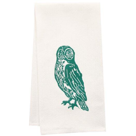 Artgoodies Organic Owl Block Print Tea Towel
