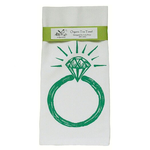 Artgoodies Organic Ring Block Print Tea Towel