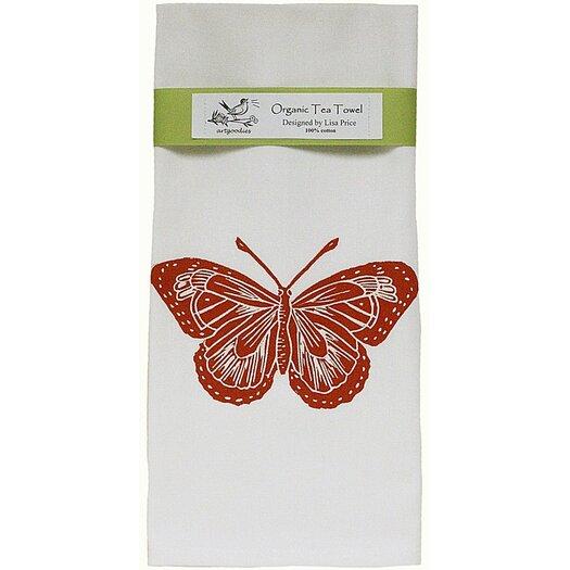 Artgoodies Organic Butterfly Block Print Tea Towel
