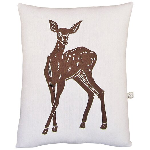 Artgoodies Deer Block Print Squillow Accent Pillow