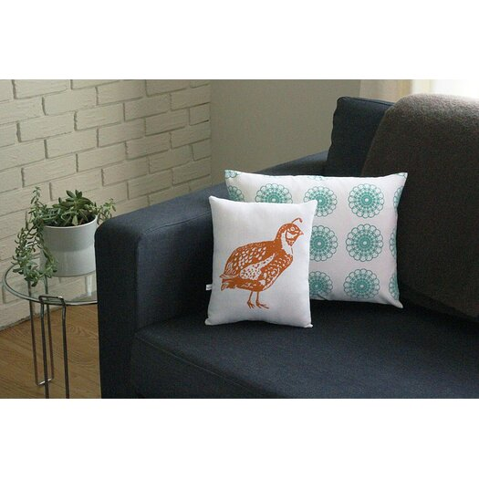 Artgoodies Quail Block Print Squillow Accent Pillow