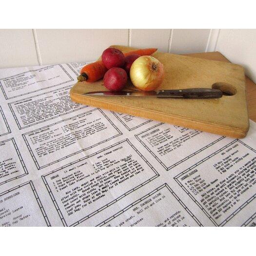 Artgoodies Organic Retro Recipes Entrée Tea Towel