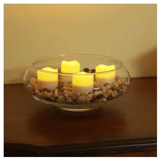 Pacific Accents Resin Wavy Top Flameless Tea Lights Candle