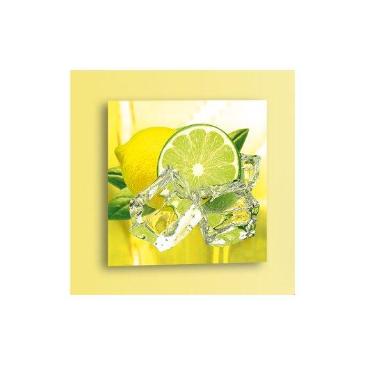 Platin Art Deco Glass Fresh Lemon and Lime Photographic Print