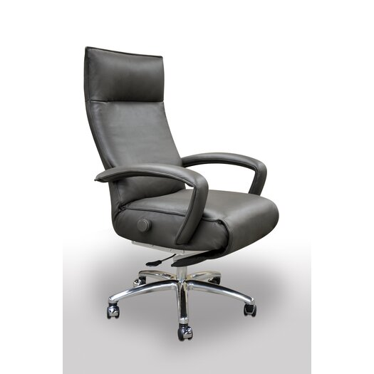 Lafer Gaga High-Back Leather Executive Chair with Arm