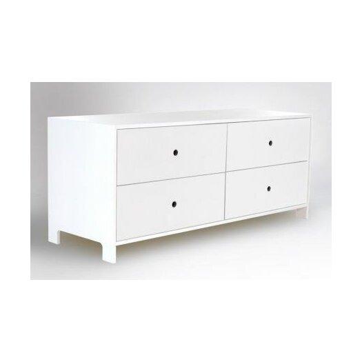 Parker 4 Drawer Low Dresser