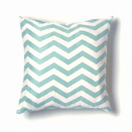 Twinkle Living ZigZag Pillow in Seafoam