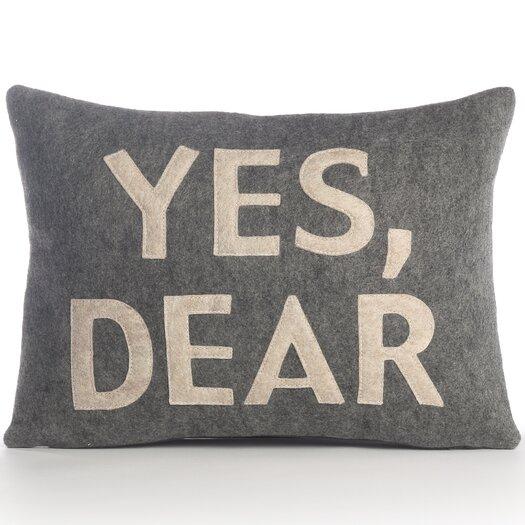 Alexandra Ferguson  Yes, Dear Decorative Pillow