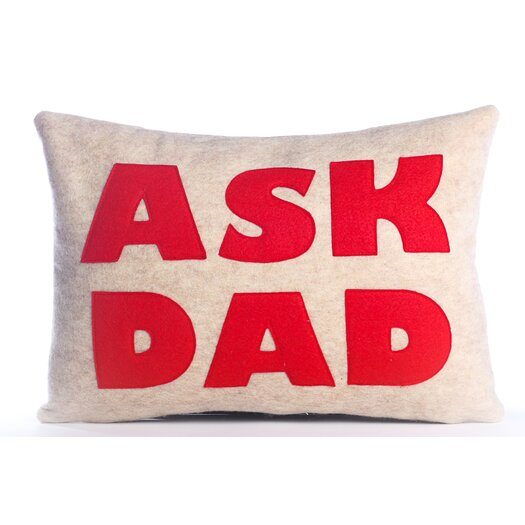 Ask Dad Decorative Pillow