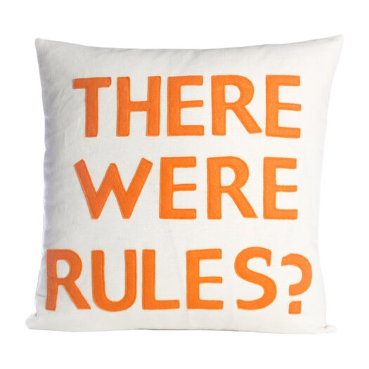 There Were Rules Decorative Throw Pillow