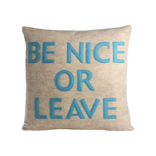 Alexandra Ferguson Be Nice or Leave Decorative Throw Pillow