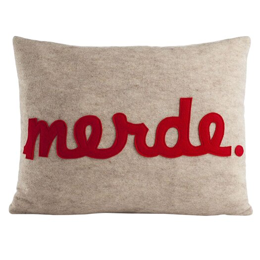 Modern Felt Pillows : Alexandra Ferguson Modern Lexicon Merde Felt Throw Pillow