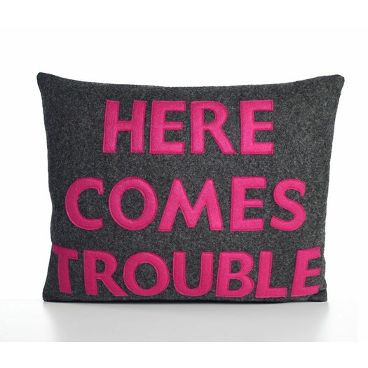 Alexandra Ferguson Here Comes Trouble Decorative Throw Pillow