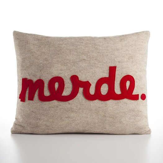 "Alexandra Ferguson ""Merde"" Decorative Pillow"