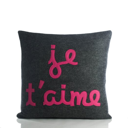 Alexandra Ferguson Je T'Aime Decorative Pillow