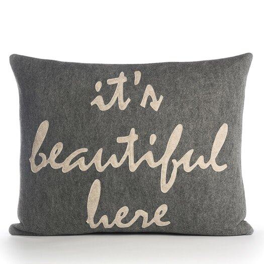 "Alexandra Ferguson ""It's Beautiful Here"" Pillow"