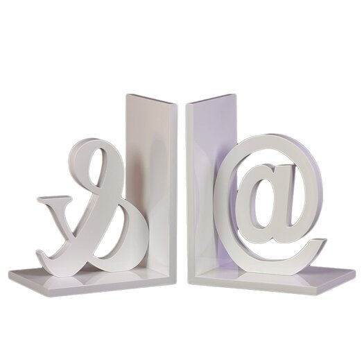 Urban Trends Wood @& Bookend Set of Two Coated Taupe Gray