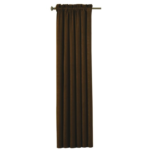 Eclipse Curtains Suede Rod Pocket Window Curtain Panel