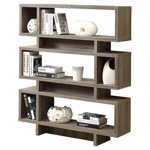 "Monarch Specialties Inc. Reclaimed-Look Modern 55"" Bookcase"