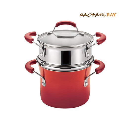 Rachael Ray Porcelain II Nonstick 3-qt. Covered Multi-Pot