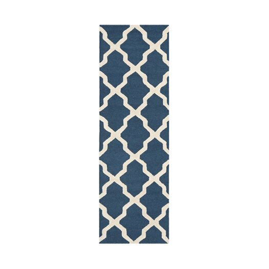 Safavieh Cambridge Lattice Navy Blue & Ivory Area Rug