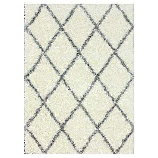 nuLOOM Shag Black/Grey Plush Area Rug