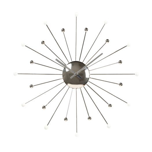 "Ashton Sutton Starburst 18"" Wall Clock"