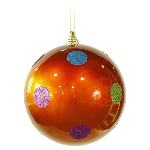 Vickerman Co. Candy Polka Dot Ball Ornament
