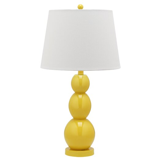 "Safavieh Jayne Three Sphere 26.5"" H Table Lamp with Drum Shade"