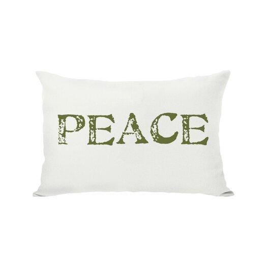 One Bella Casa Holiday Peace Reversible Pillow