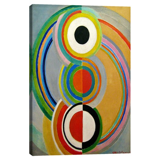 iCanvas 'Rythme 1938' by Sonia Delaunay Painting Print on Canvas