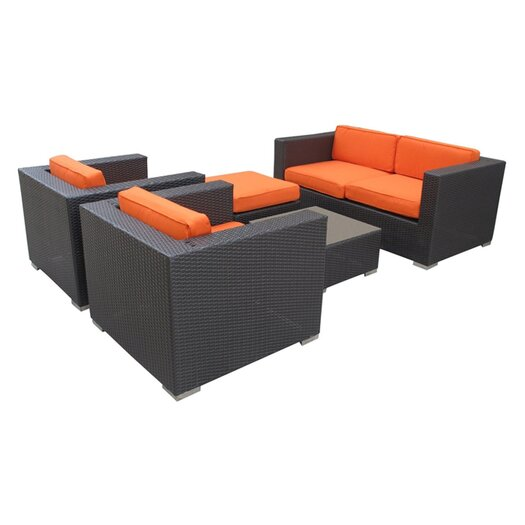 Modway Malibu 5 Piece Deep Seating Groups with Cushions