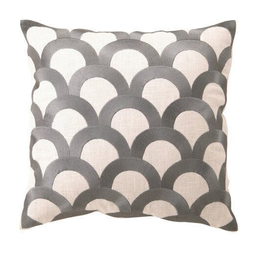 D.L. Rhein Scales Embroidered Throw Pillow
