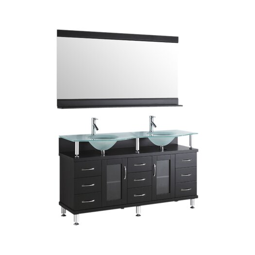 "Virtu Rocco 61"" Bathroom Vanity Set with Double Sink"
