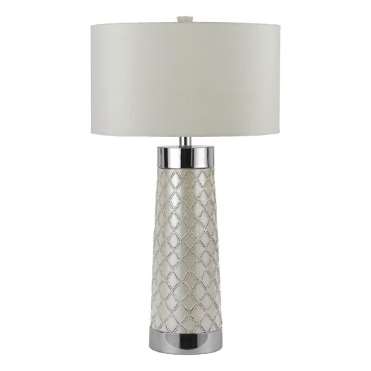 """AF Lighting Candice Olson Trellis 32"""" H Table Lamp with Drum Shade"""
