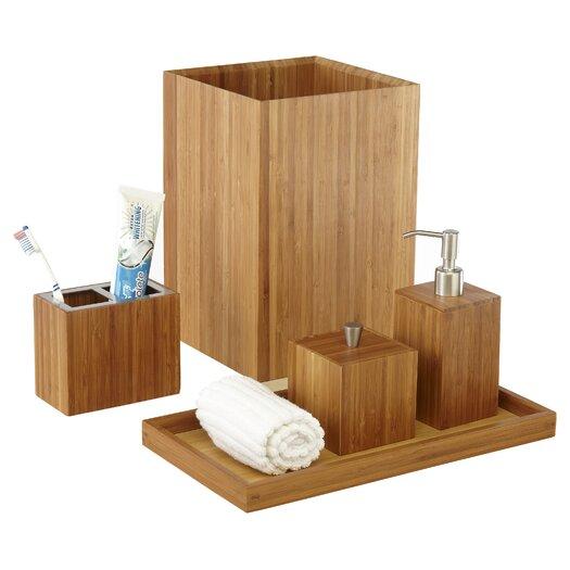 Seville Classics Bamboo 5 Piece Bath & Vanity Set
