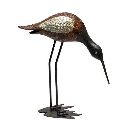 Vita V Home Shore Bird Sandpiper Figurine with Head Down