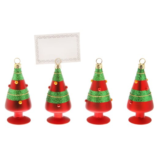 October Hill Striped Trees Ornament & Place Card Holder