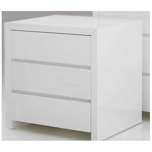 Mobital Blanche 3 Drawer Nightstand