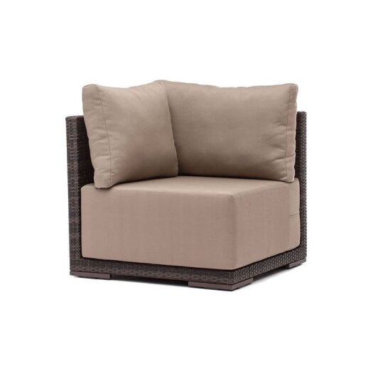 dCOR design Park Island Deep Seating Corner Chair with Cushions