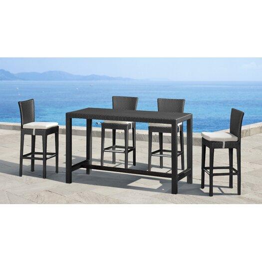 dCOR design Anguilla Height Outdoor Bar Table