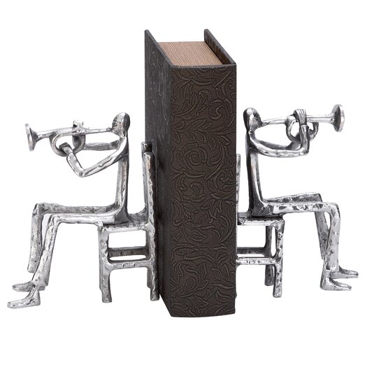 Woodland Imports Aluminum Musician Book Ends