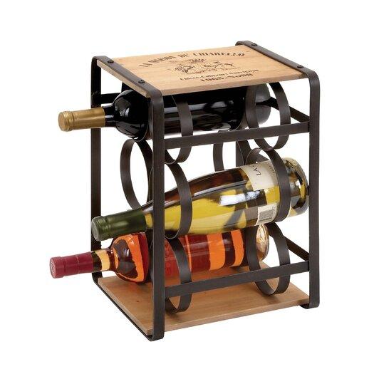 Woodland Imports 6 Bottle Tabletop Wine Rack